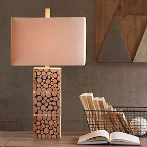 INK+IVY Everett Wood Table Lamp