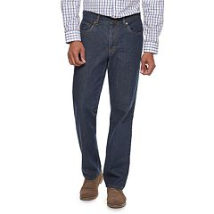 Men's Croft & Barrow® Straight-Fit Flannel-Lined Jeans
