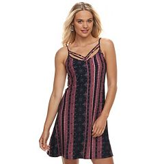 Juniors' Mudd® Print Strappy Tank Dress