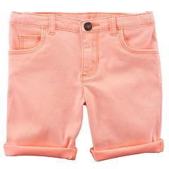 Toddler Girl Carter's Rolled-Cuff Midi Twill Shorts