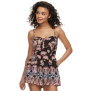 Juniors' About A Girl Floral Knot-Front Romper