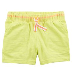 Toddler Girl Carter's Slubbed Drawstring Shorts