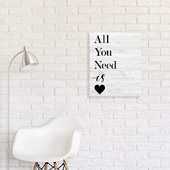 Artissimo Designs Heart Canvas Wall Art