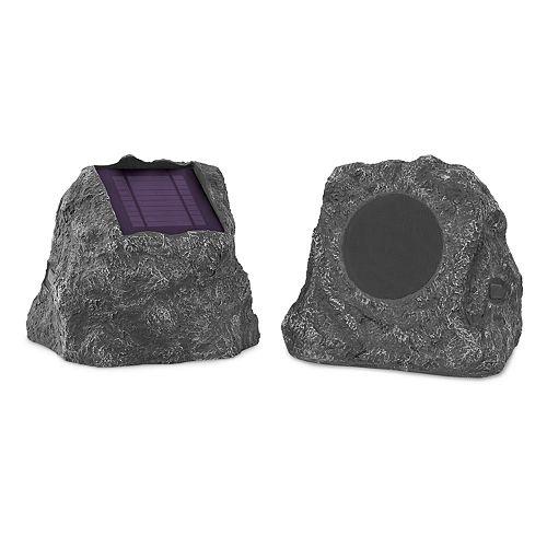 Innovative Technology Solar-Powered Bluetooth Wireless Waterproof Outdoor Rock Speaker Set