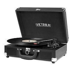 Victrola Suitcase Record Player with 3-Speed Turntable