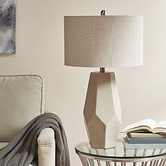 Madison Park Faceted Geometric Table Lamp