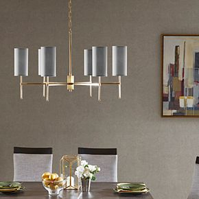 Madison Park Signature Bronze Finish 6-Light Chandelier