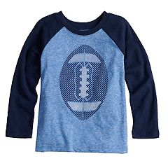 Toddler Boy Jumping Beans® Long Sleeve Slubbed Raglan Graphic Tee