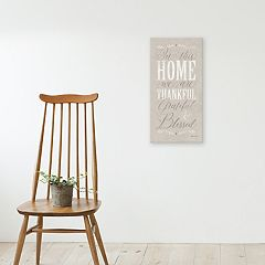 Artissimo Designs 'In This Home' Canvas Wall Art