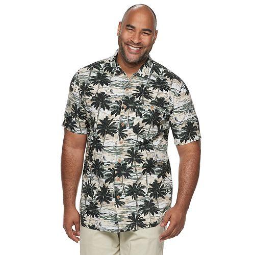 Big & Tall Croft & Barrow® Regular-Fit Crosshatch Button-Down Shirt
