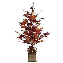 Celebrate Fall Together Light-Up Artificial Potted Tree