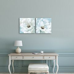 Artissimo Designs Single Poppy Canvas Wall Art 2-piece Set