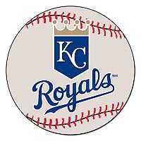 FANMATS Kansas City Royals Round Baseball Mat
