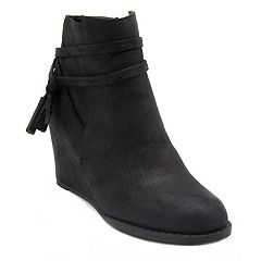 sugar Hiya Women's Wedge Ankle Boots