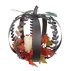Celebrate Fall Together LED Candle Pumpkin Table Decor