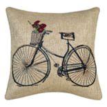 Spencer Home Decor Doris Bike Throw Pillow