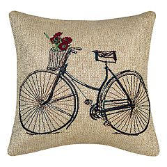 Spencer Home Decor Doris Bike Throw Pillow