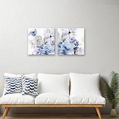 Artissimo Designs Light Floral Canvas Wall Art 2-piece Set