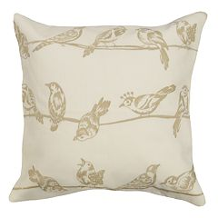 Spencer Home Decor Birds on Wire Throw Pillow