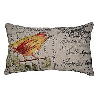 Spencer Home Decor Hopeful Bird Oblong Throw Pillow