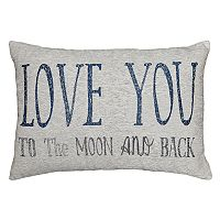 Spencer Home Decor ''Love You to the Moon'' Oblong Throw Pillow