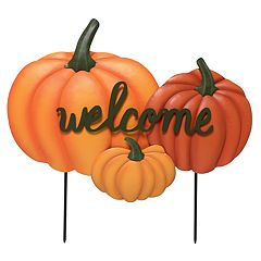 Celebrate Fall Together 'Welcome' Pumpkin Garden Stake