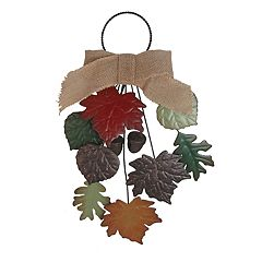 Celebrate Fall Together Iron Leaf Door Knocker