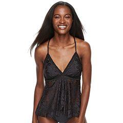 Women's Apt. 9® Tummy Slimmer Crochet Flyaway Tankini Top