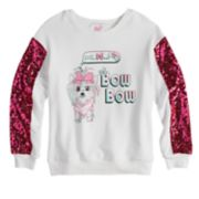 "Girls 7-16 JoJo Siwa Sequined Sleeve ""Bow Bow"" Sweatshirt"