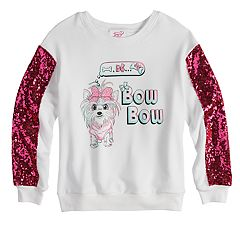 Girls 7-16 JoJo Siwa Sequined Sleeve 'Bow Bow' Sweatshirt
