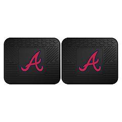 FANMATS Atlanta Braves 2-Piece Backseat Utility Mat Set