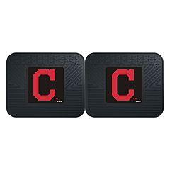 FANMATS Cleveland Indians 2-Piece Backseat Utility Mat Set