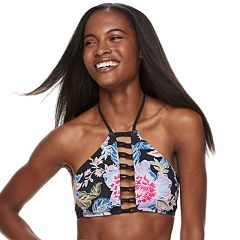 Women's Apt. 9® Floral Strappy Halter Bikini Top