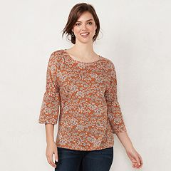 Women's LC Lauren Conrad Printed Bell Sleeve Top