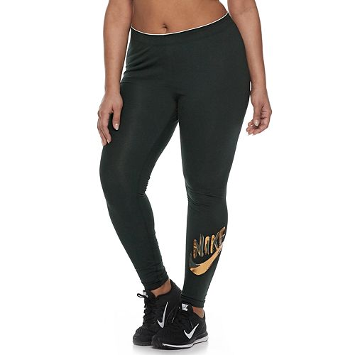 5020fd868ad Plus Size Nike Sportswear Metallic Leggings