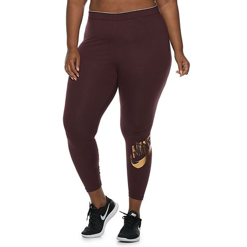39be68ae6c3a1 Plus Size Nike Sportswear Metallic Leggings