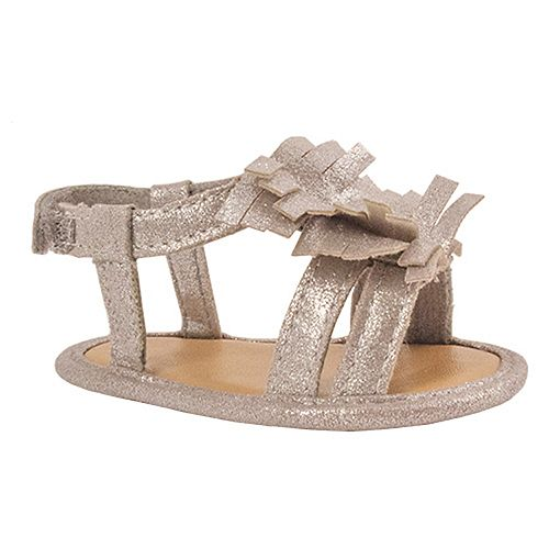 Baby Girl Wee Kids Fringe Shimmer Sandal Crib Shoes