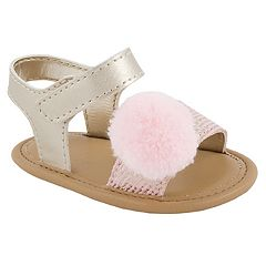 Baby Girl Wee Kids Pom Sandal Crib Shoes
