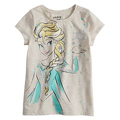 Disney's Frozen Elsa Girls 4-10 Glittery Graphic Short-Sleeve Tee by Jumping Beans®