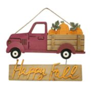 Celebrate Fall Together Red Truck Wall Decor