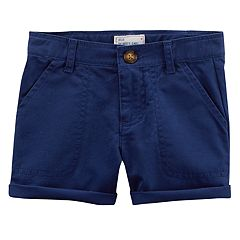 Baby Girl Carter's Roll Cuff Twill Shorts