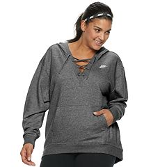 Plus Size Nike Sportswear Lace-Up Hoodie