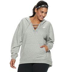 Plus Size Nike Sportswear Lace-Up Hoodie