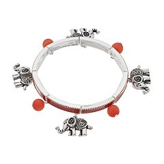 Believe In Elephant Charm Stretch Bracelet