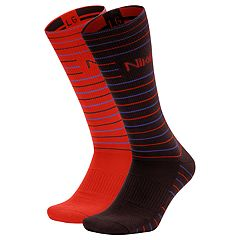 Men's Nike 2-pack Striped Dri-FIT Performance Crew Socks