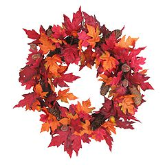 Celebrate Fall Together Indoor Artificial Leaf Wreath