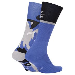 Men's Nike SB 2-pack Dri-FIT Performance Skateboarding Crew Socks