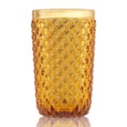 Food Network? Textured Amber Highball Glass