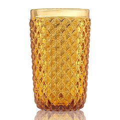 Food Network™ Textured Amber Highball Glass
