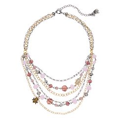 Simply Vera Vera Wang Beaded Two Tone Layered Swag Necklace